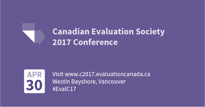 Canadian Evaluation Society 2017 Conference