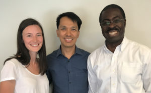 From L to R: Clinical Nurse Educator Brenda Vaughan, CHÉOS' Dr. Joseph Puyat, and Clinical Nurse Specialist Dr. Kofi Bonnie