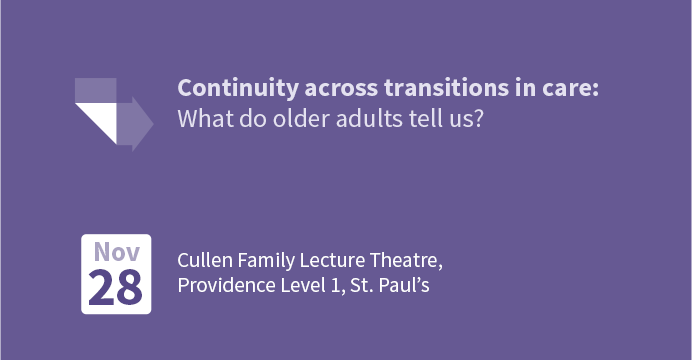 Continuity across transitions in care: What do older adults tell us?