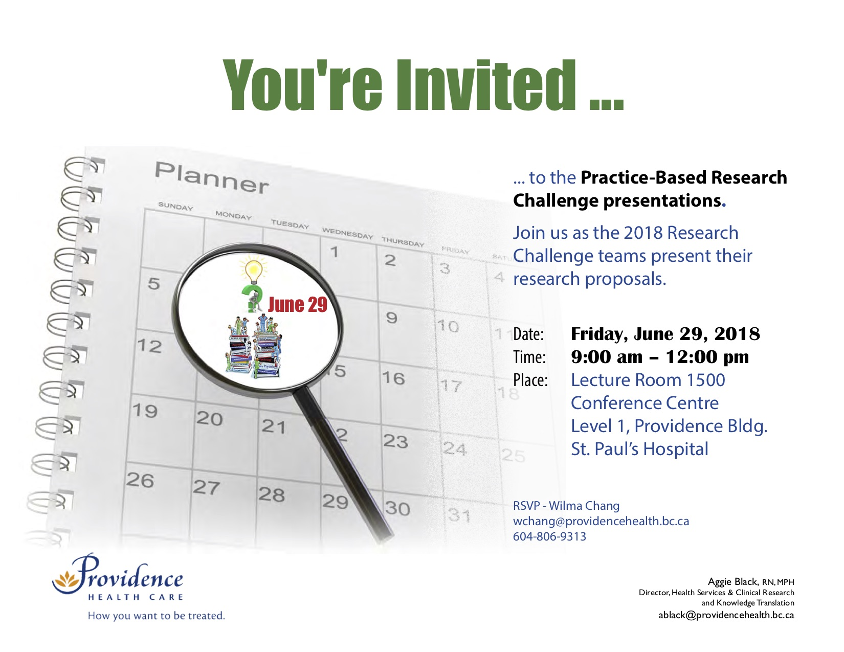 PHC Practice-Based Research Challenge Proposal Presentations @ Lecture Room 1500 Conference Centre Level 1, Providence Bldg. St. Paul's Hospital