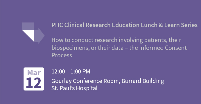PHC Clinical Research Education Lunch and Learn Series