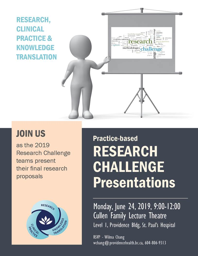 2019 Practice-Based Research Challenge Proposals Presentation @ Cullen Family Lecture Theatre