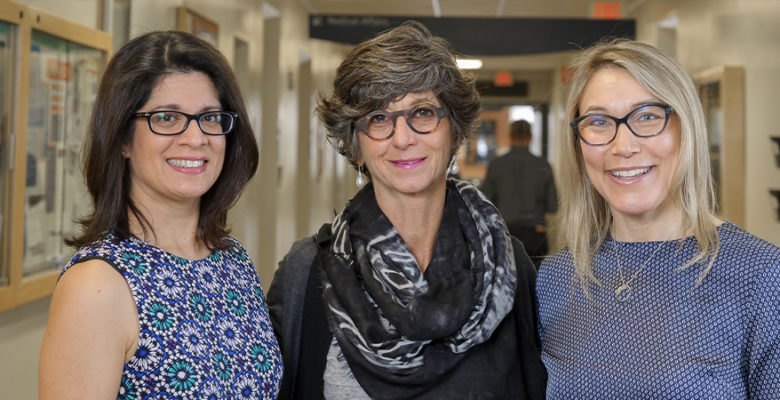 CHÉOS Scientists Drs. Sabrina Gill, Adeera Levin, and Josie Geller, medical device clinical studies