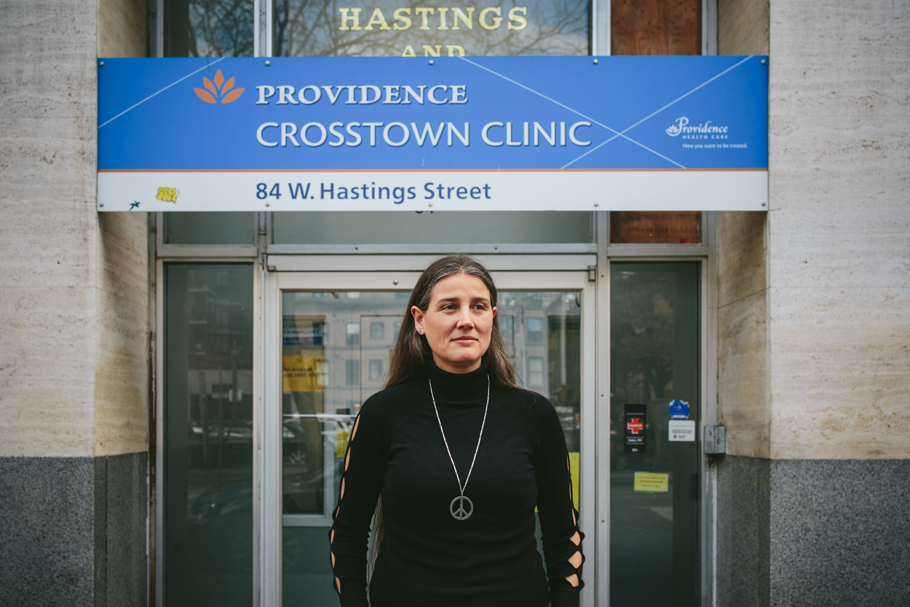 Dr. Eugenia Oviedo-Jokes at Crosstown Clinic, a SALOME site / Photo courtesy Vice News