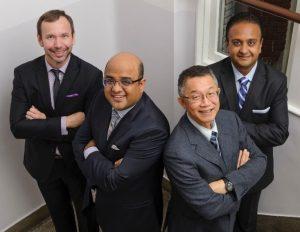 Photo courtesy of PHC News/ Drs. Carl Brown, Amir Karimuddin, Terry Phang, and Manoj Raval